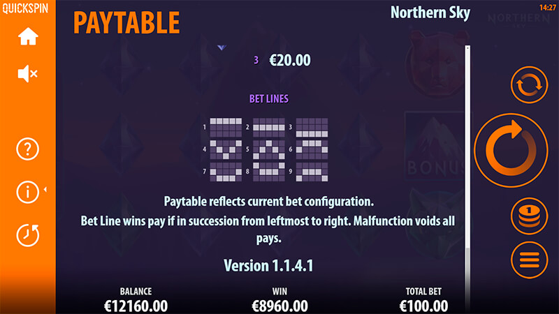 Изображение игрового автомата Northern Sky 3