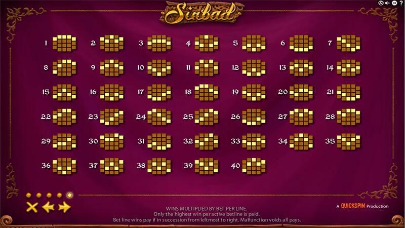 Изображение игрового автомата Sinbad 4
