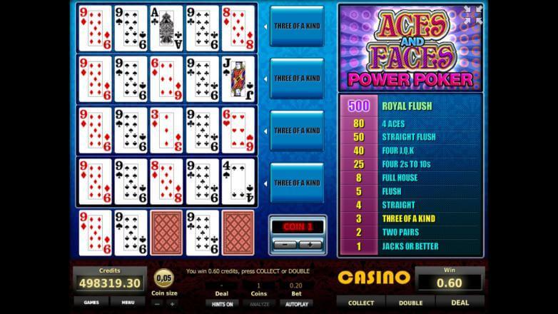 aces and faces описание игрового автомата